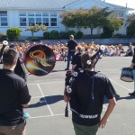 Sam tells the children about the pipes and drums
